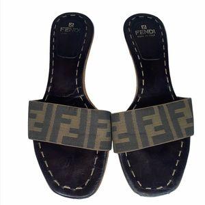 Fendi Authentic RARE Vintage 90's Slides Sandals 7